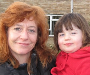 Meri with her youngest child, Sian, who already attends BSL classes