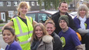 Meri with volunteers from Hilton International